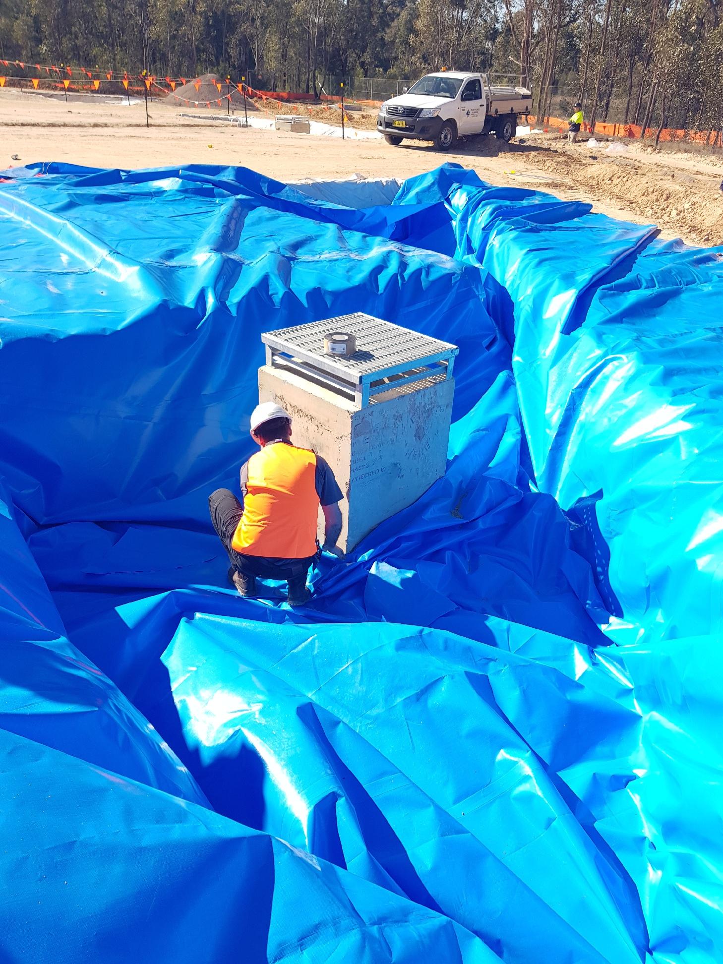 installing a dam liner